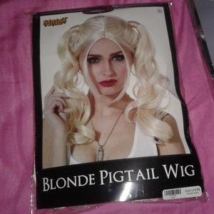 Blonde pig tails Halloween wig